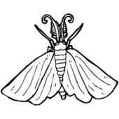 Dessin animé papillon — Vecteur