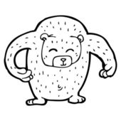 Huge bear cartoon — Stock Vector