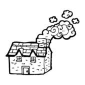 Cartoon farmhouse — Stock Vector