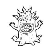 Afschuwelijk monster cartoon — Stockvector