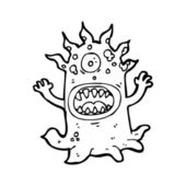 Hideous monster cartoon — Vettoriale Stock