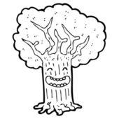 Happy tree cartoon character — Stock Vector