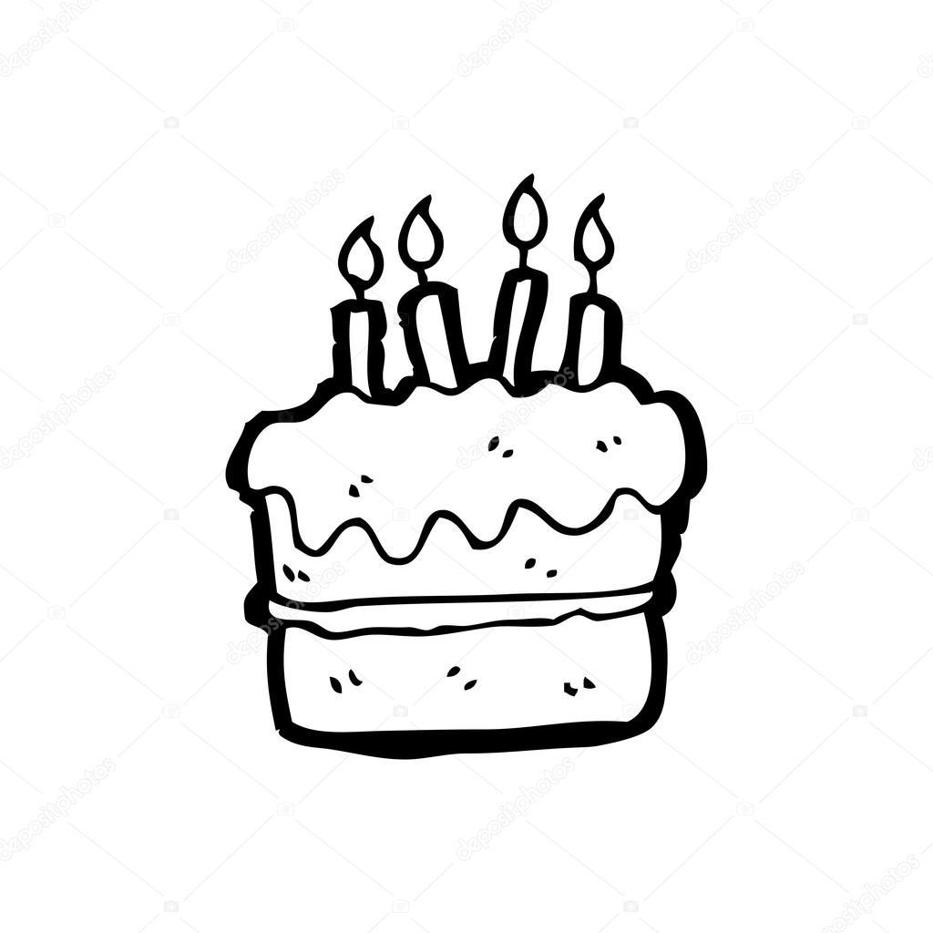 Illustration Anniversaire Noir Et Blanc Cup Cake