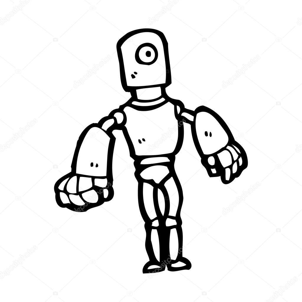 Futuristic Robot Drawings Vector Futuristic Robot