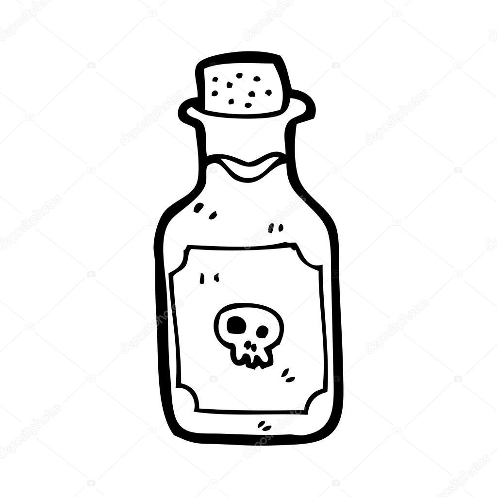 Bouteille de poison de dessin anim image vectorielle for Acheter poison