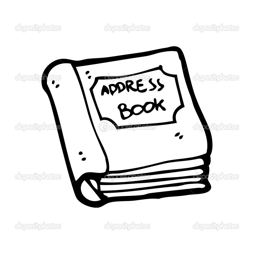 Cartoon address book — Stock Vector © lineartestpilot ...