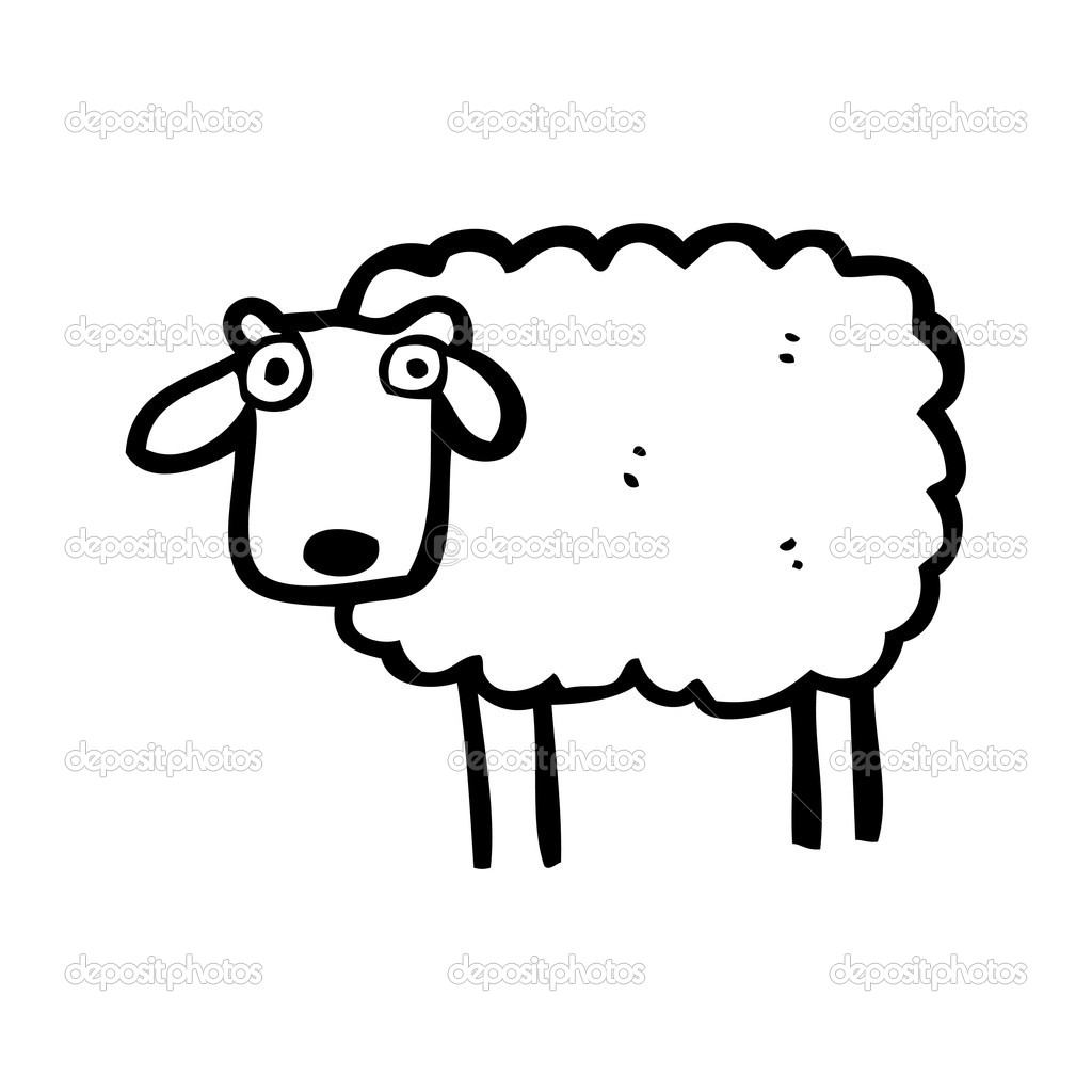 Sheep Vector Image Sheep Cartoon — Vector by