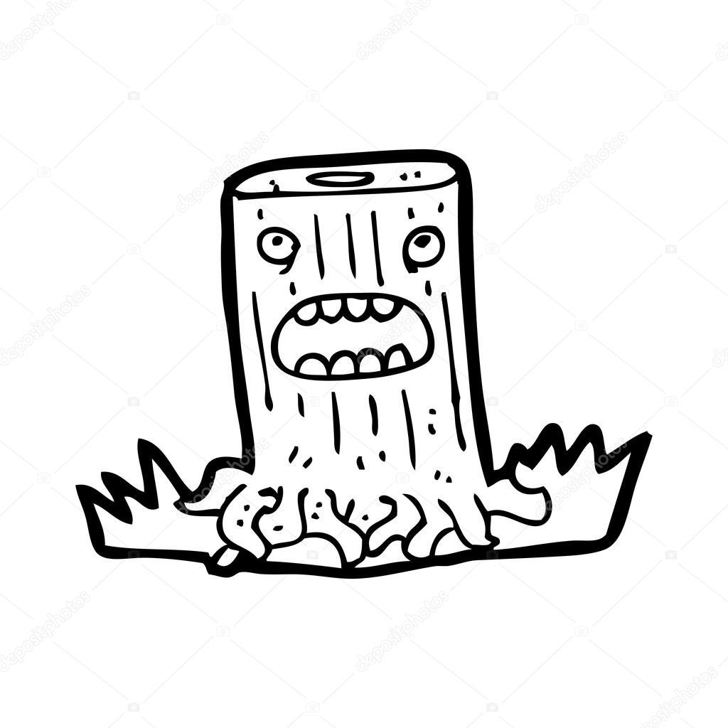 树树桩卡通人物