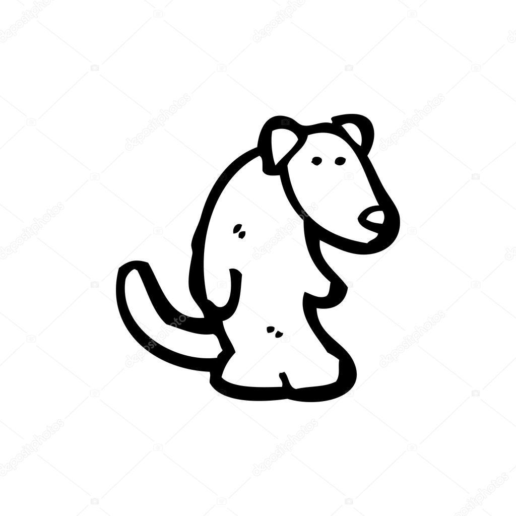 大耳朵卡通狗 — 图库矢量图片