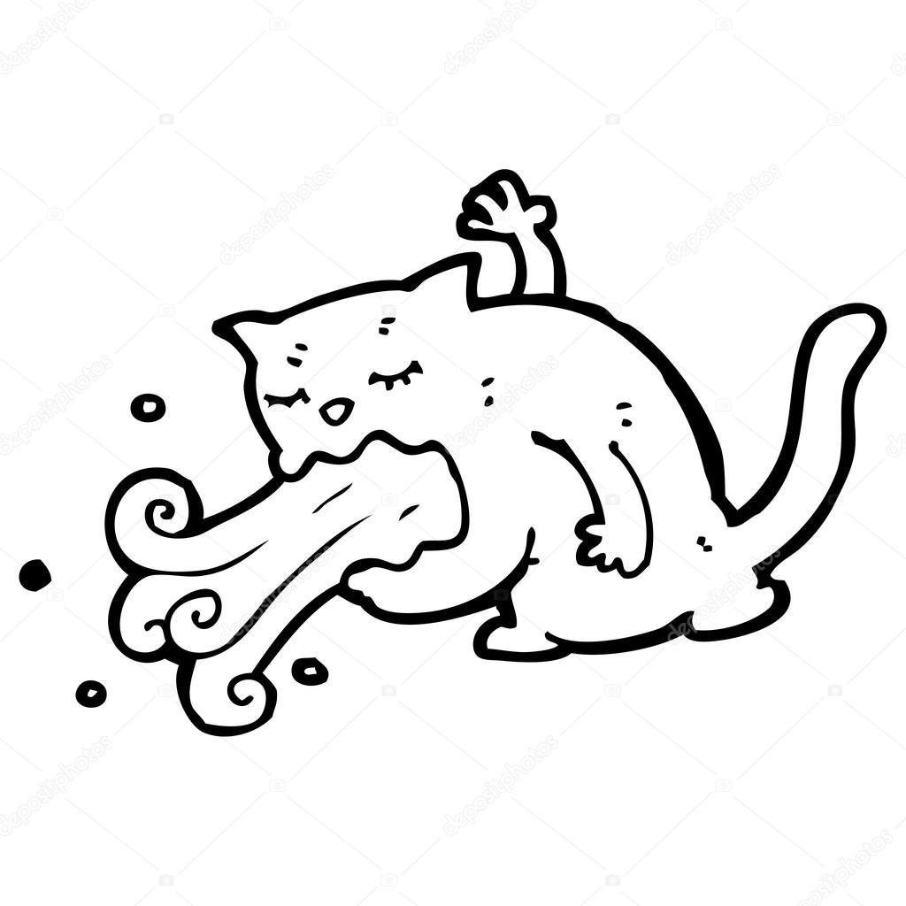 Dibujos animados de gato enfermo \u2014 Archivo Imágenes Vectoriales 19889665