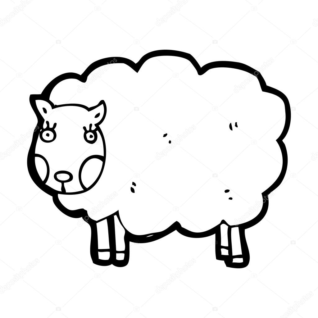 Sheep Vector Image Vector Cartoon Sheep on a