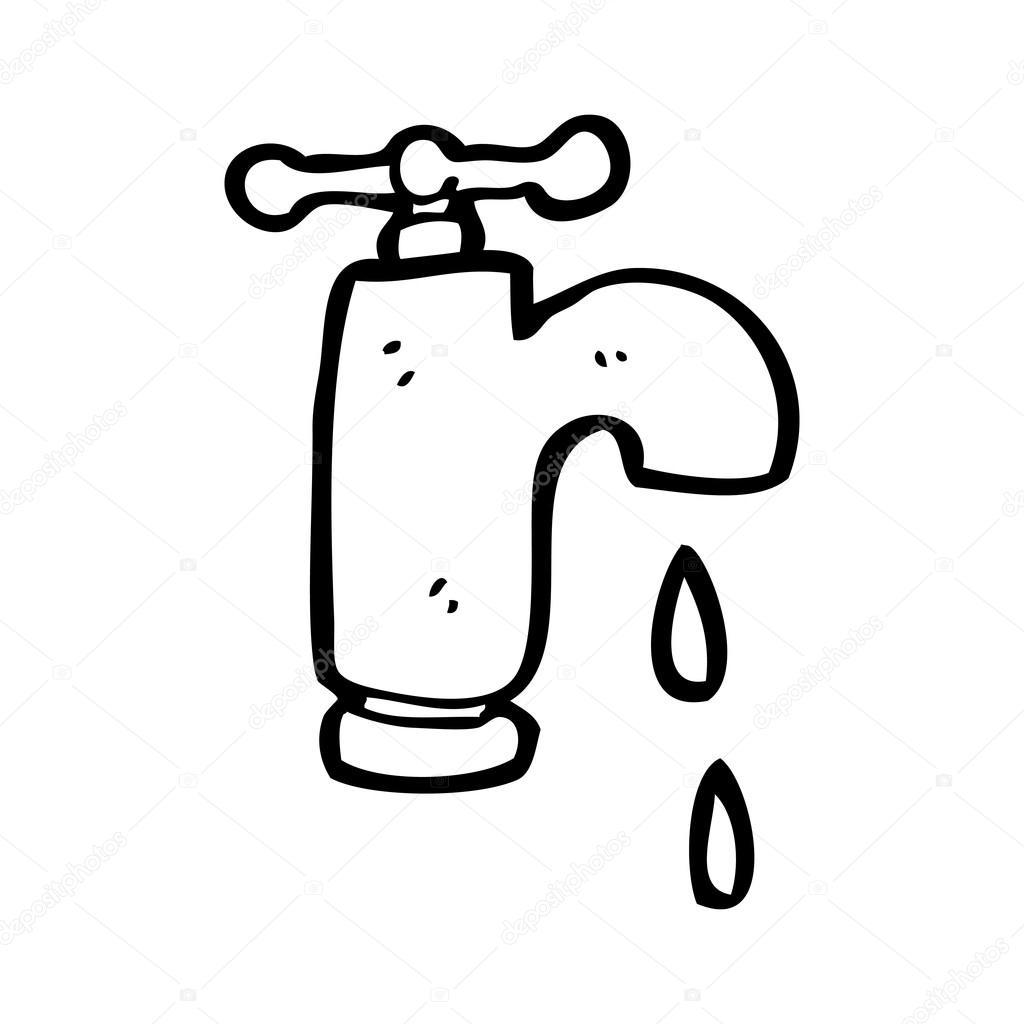 Desenhos animados de torneira pingando vetor de stock for Grifo dibujo