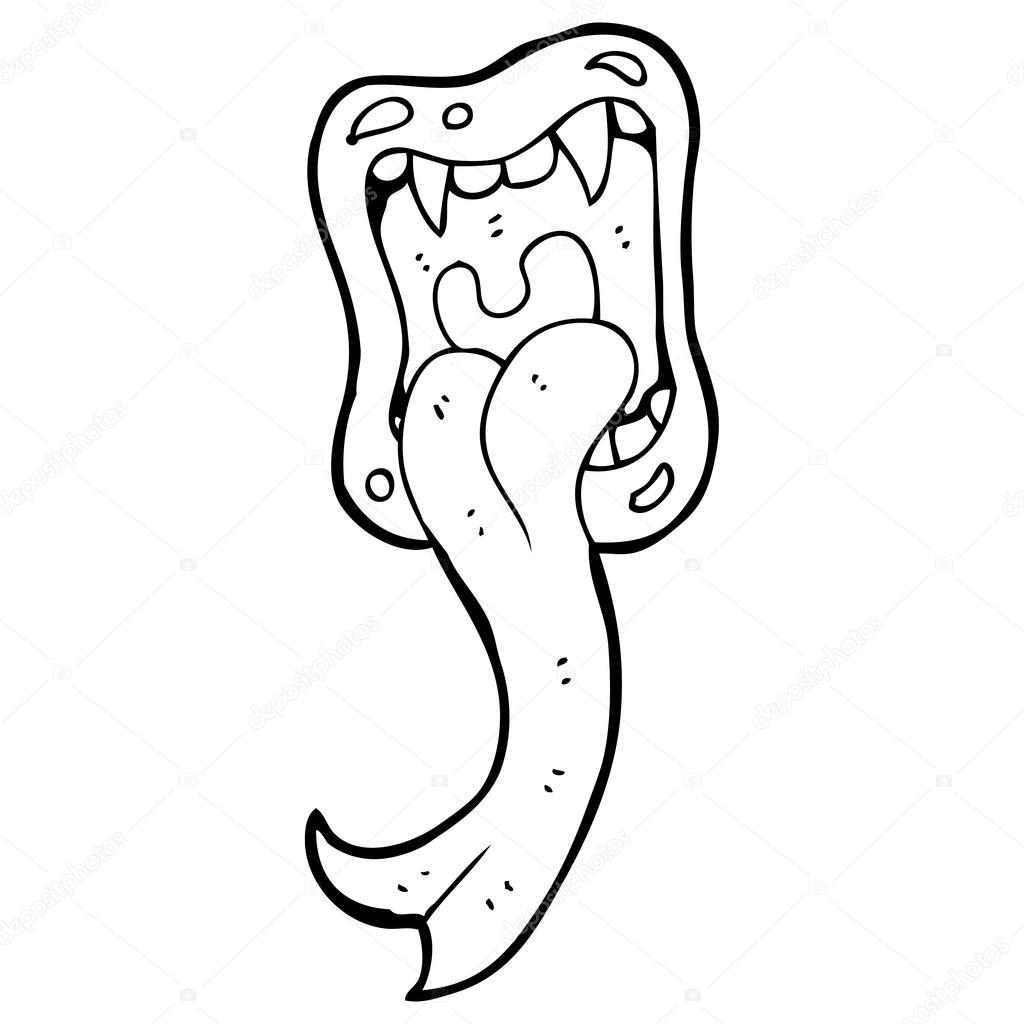 Free coloring pages of lingua mouth