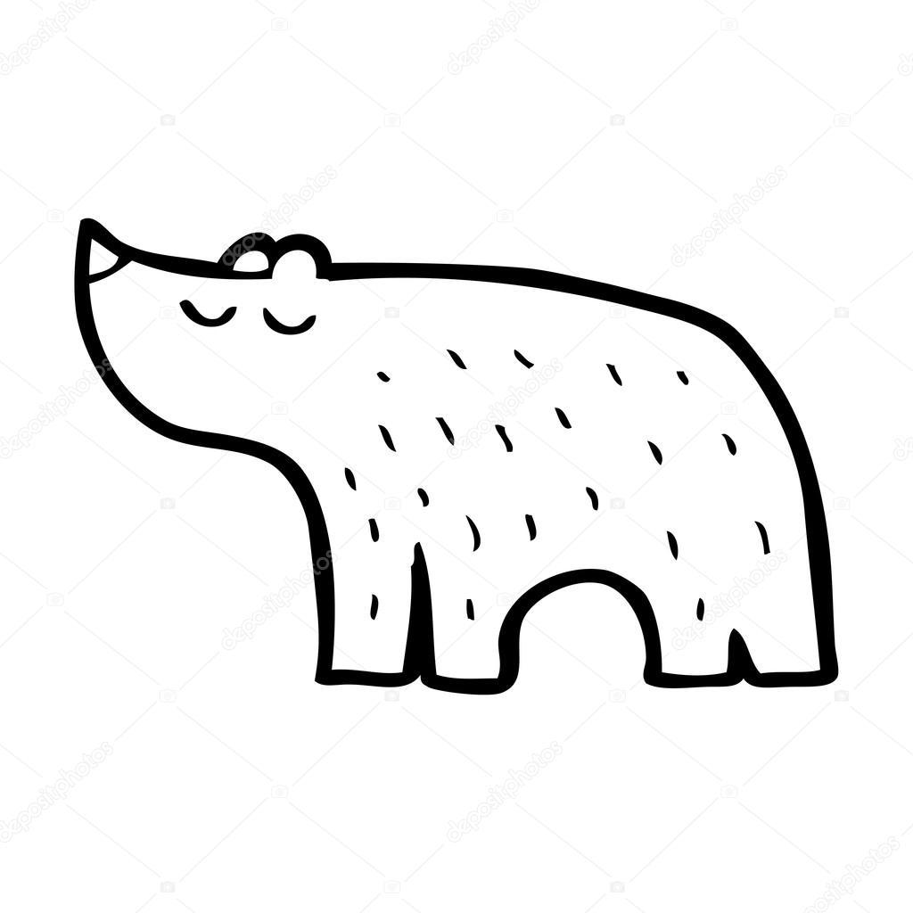 可爱卡通北极熊