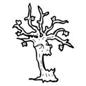 Cartoon spöklika träd — Stockvektor