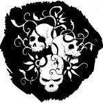 Graffiti skull pattern — Stock Vector