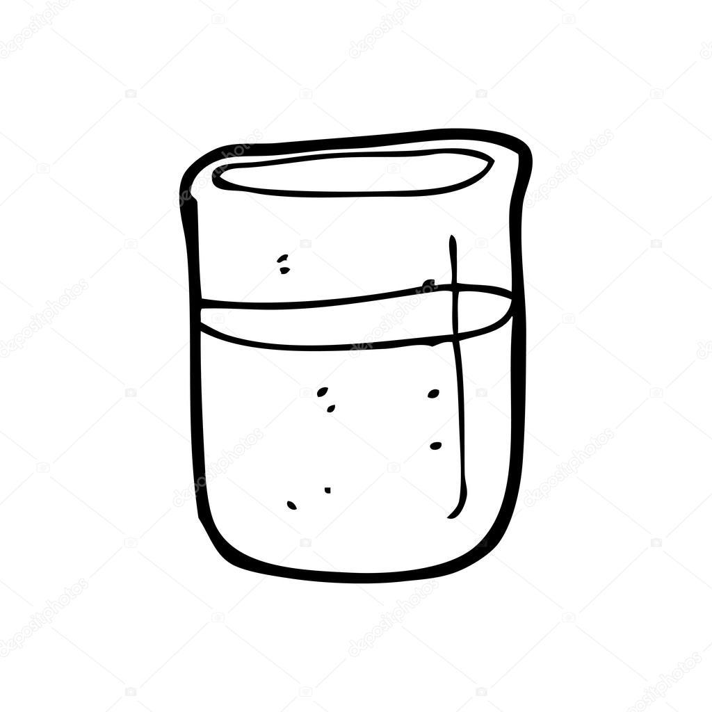 科学的烧杯卡通
