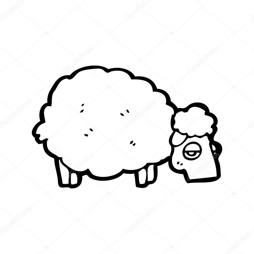 Sheep Vector Image Vector Cartoon Sheep Eating