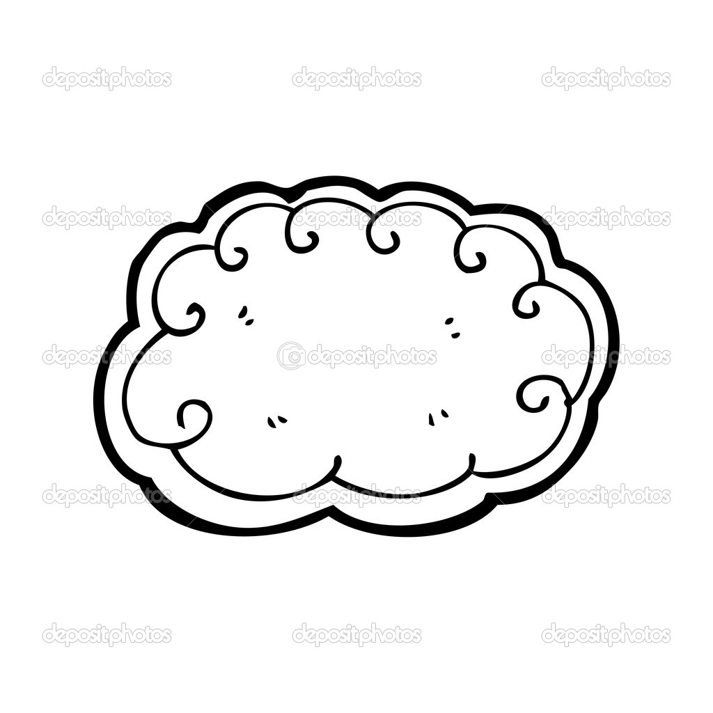 Cloud Designs Drawings Vector Hand Drawn Cloud