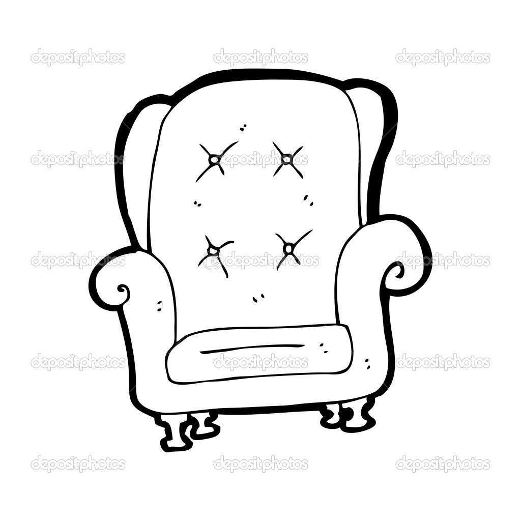 Chair Cartoon Drawing Old Leather Chair Cartoon