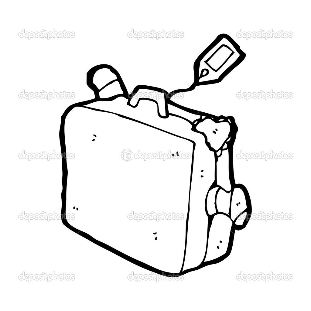 Volle gep ck koffer cartoon stockvektor 20078809 - Dessin de valise ...