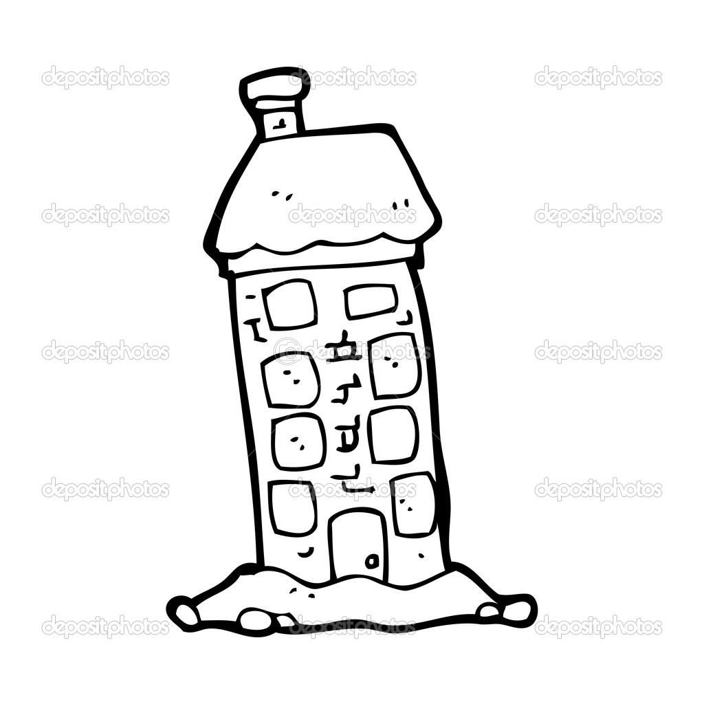 卡通高大房子 — 图库矢量图片