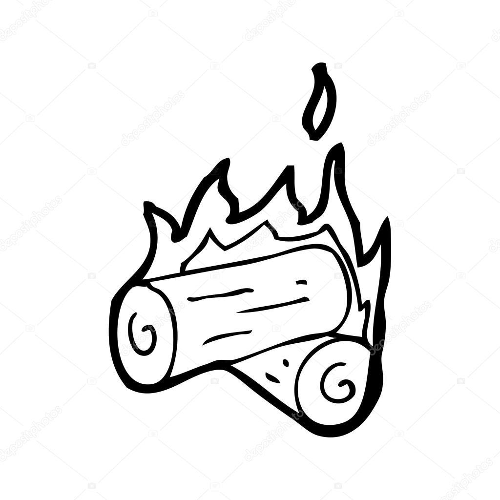 向量,在白色背景上的篝火卡通 — 图库矢量图片#20080581