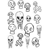 Colección de cráneo — Vector de stock