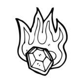 Magic flaming gem — Stock Vector