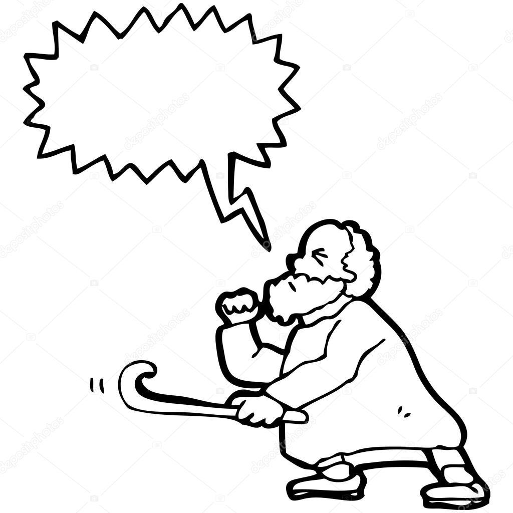 Angry Old Man Drawing Vector  angry old man cartoon
