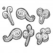 Swirls collection — Image vectorielle