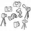 Photography equipment collection — Stock Vector