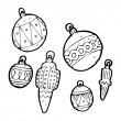 Royalty-Free Stock Imagem Vetorial: Christmas baubles set