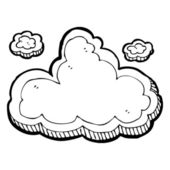 Cloud drawing — Stock Vector