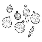 Christmas baubles collection — Stock Vector