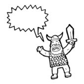 Viking con espada — Vector de stock