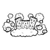 Fairytale castle in sky — Stock Vector