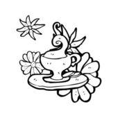 Taza de té de lujo — Vector de stock