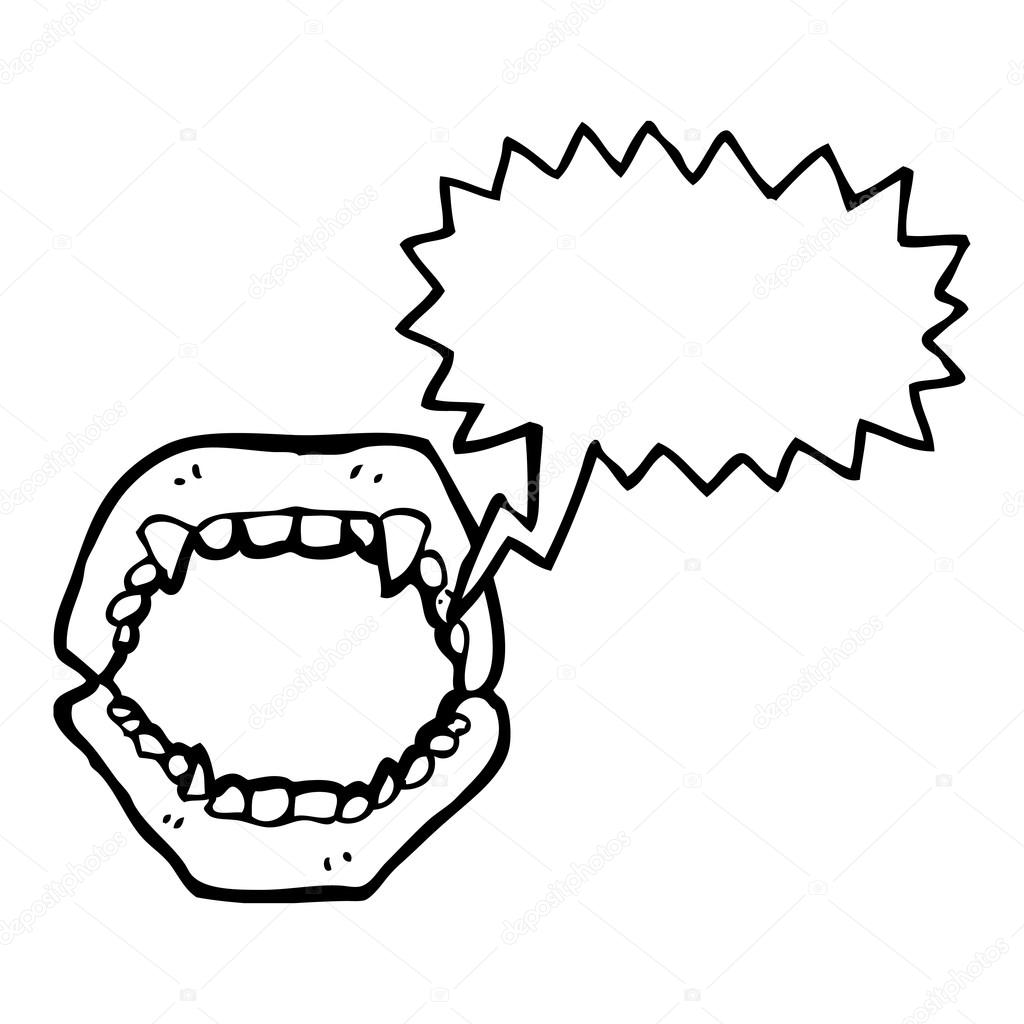 Sketch Mouth Teeth Coloring Pages