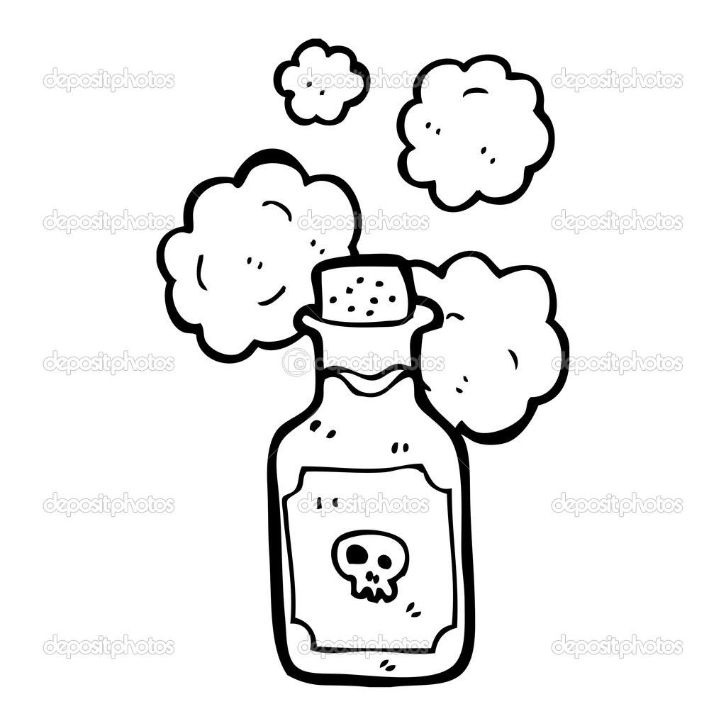 Small bottle of deadly poison — Stock Vector © lineartestpilot ...