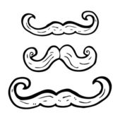 Mustache collection — Stock Vector