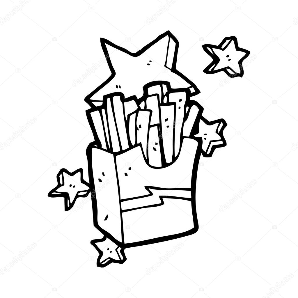 手绘无缝快餐图标