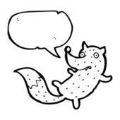 Gracioso zorro con burbuja de discurso — Vector de stock