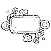 Decorative name tag design element — Stock Vector