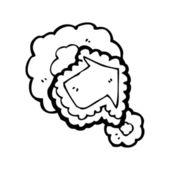 Arrow with cloud — Stock Vector