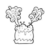 Steaming, bubbling cauldron — Stock Vector