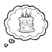 Thinking of cake — Stock Vector