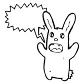 Spooky zombie rabbit — Stockvector