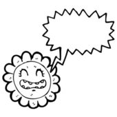 Retro flower character — Stock Vector