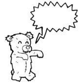 Zombie teddy bear — Stock Vector